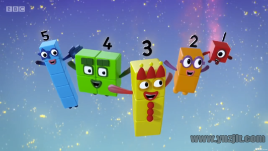 BBC数学启蒙英语动画Numberblocks数字积木,全四季共90集,1080P高清视频带英文字幕,含全套MP3音频,百度网盘下载!