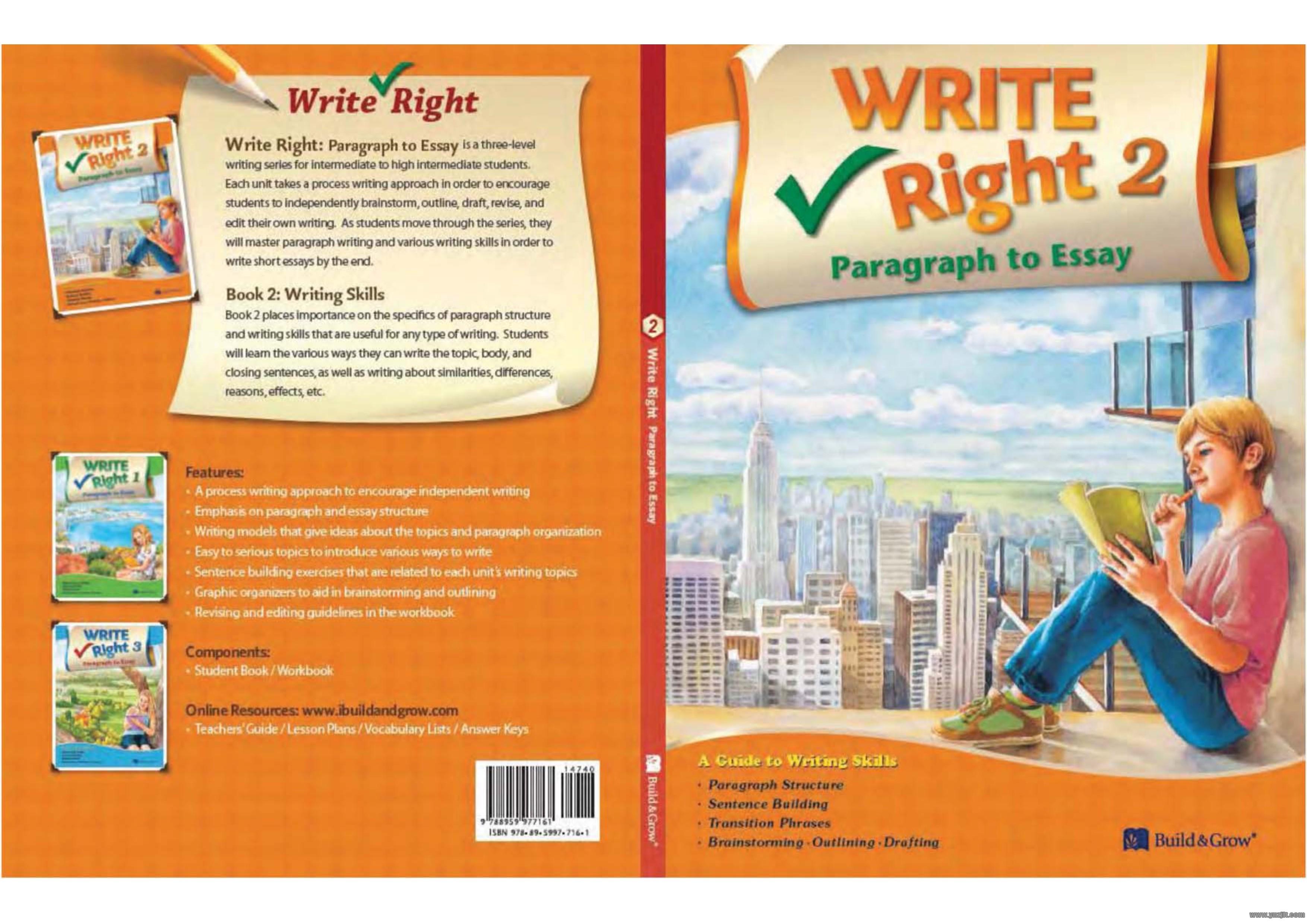 美国高中生英文写作教材Write Right Paragraph to Essay全三级PDF学生用书+教师用书百度网盘下载